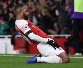 Lacazette scored the game's only goal. AFP
