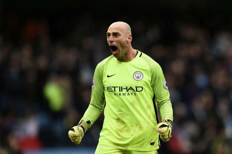Willy Caballero is in talks with Chelsea following his release from Manchester City. AFP