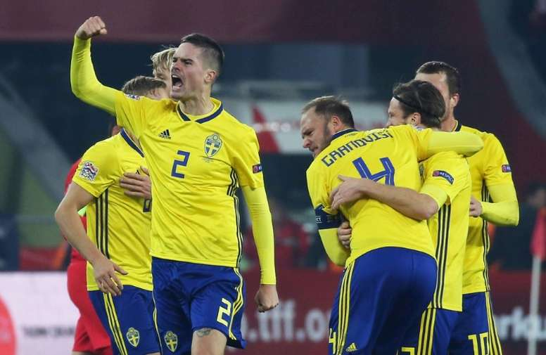 Sweden relegated Turkey in the Nations League. AFP