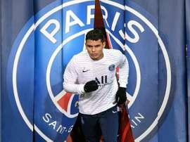 Thiago Silva se rapproche de la porte de sortie. AFP