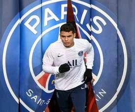 Thiago Silva, prêt à terminer la saison avec le PSG. AFP