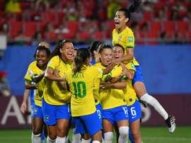 Au Brésil, le foot féminin cartonne à la télé. AFP