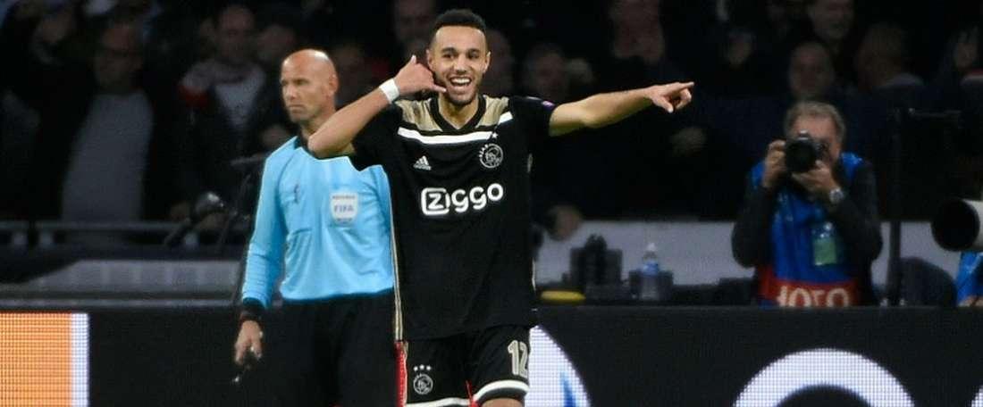 El Ajax anotó siete goles en casa del Excelsior. AFP