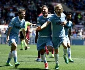 A Lazio bateu a Sampdoria por 7-3 na rodada 35 da Serie A. AFP