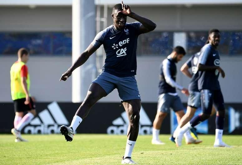 Mendy fait son retour avec la sélection française. AFP
