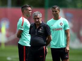A Seleção portuguesa já está na Hungria. AFP