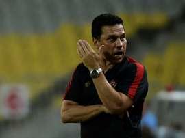 L'entraîneur d'Al Ahly, Hossam El Badry, lors d'un match de la Ligue des champions africaine. AFP