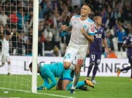 Marseille vence Toulouse no Vélodrome. AFP