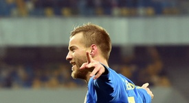 Andriy Yarmolenko grabbed the only goal of the game against Slovakia. AFP
