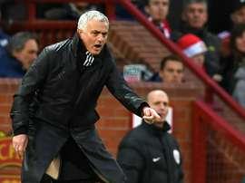 L'entraîneur de Manchester United José Mourinho. AFP