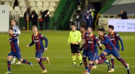 Le Barça décroche sa place en finale aux tirs au but. AFP