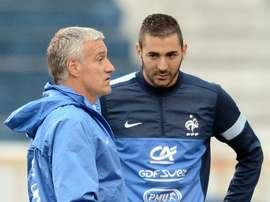 Nasri muito crítico em relação à ausência de Benzema da Seleção. AFP