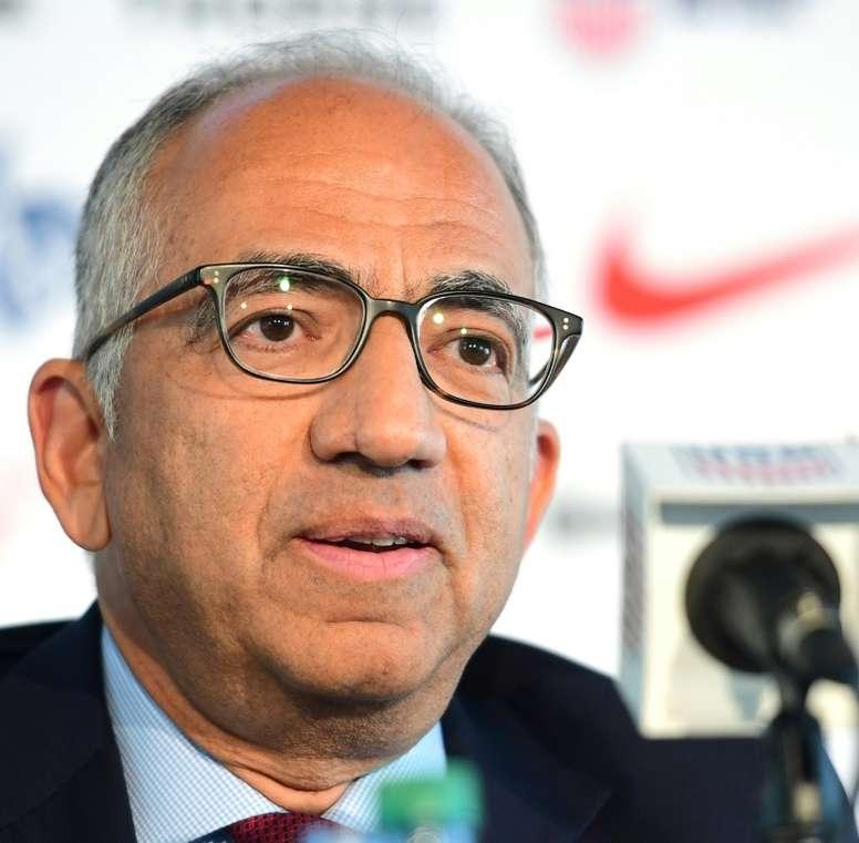 Le président d'US soccer Carlos Cordeiro. AFP