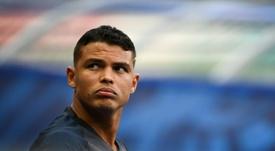 Thiago Silva fue de los afectados. AFP