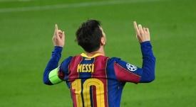 Le groupe du Barça contre la Juve. AFP