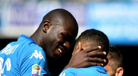 Napoli have put a price tag on their central defender amid interest from City and Juve. AFP