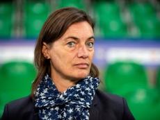 La patronne des Bleues Corinne Diacre. AFP