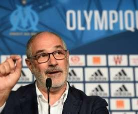 Le directeur sportif prend la défense de ses joueurs. AFP