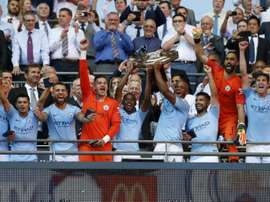 Manchester City win at Wembley again. AFP