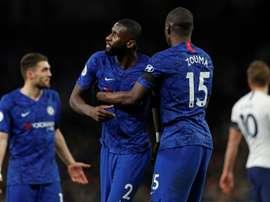 Cris racistes lors de Tottenham-Chelsea. AFP