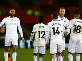 Swansea a gagné son ticket pour les quarts. AFP