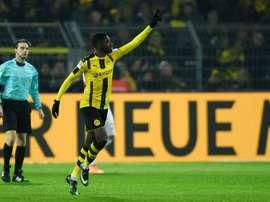 Ousmane Dembele a inscris le premier but de la rencontre. AFP