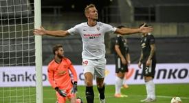 Veja como está encaminhada a final da Liga Europa. AFP