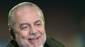 De Laurentiis continua a sognare il ritorno di Cavani. AFP