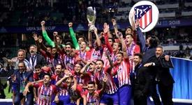 El Atleti gana la Supercopa. AFP