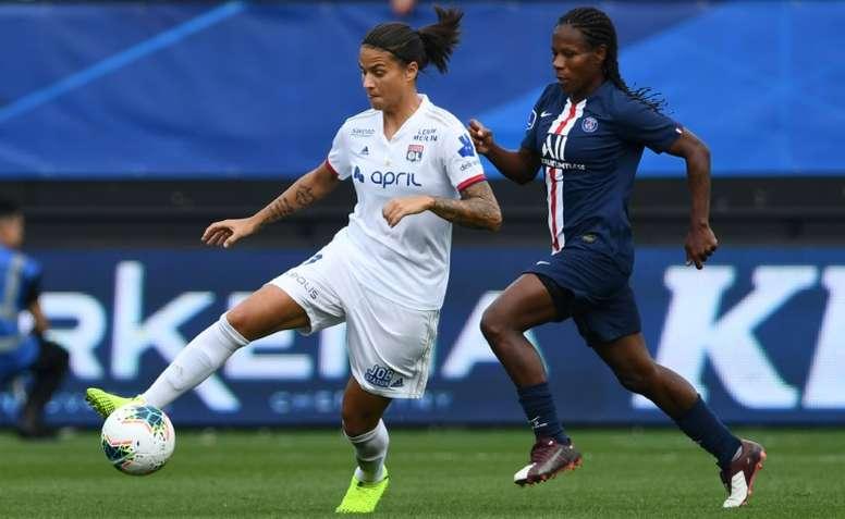 La FFF maintient le choc féminin PSG-OL au 14 mars, à huis clos. AFP