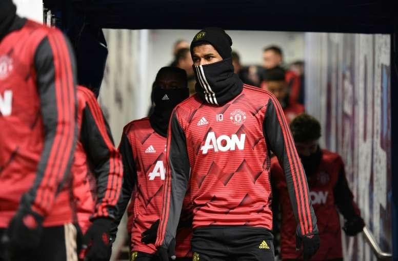 Les résultats de Manchester United affectés par le Covid-19. AFP