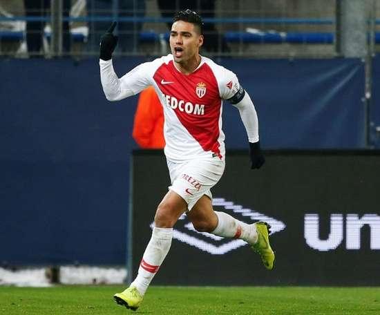 El 'Tigre' volvió a marcar en una nueva victoria del Mónaco. AFP