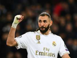 L'attaccante francese del Real Madrid Benzema. AFP