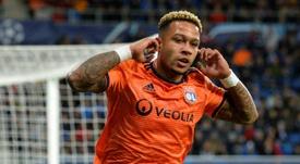 Depay, el más decisivo de la Ligue 1. AFP