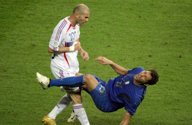 Zidane's farewell in 2006. AFP