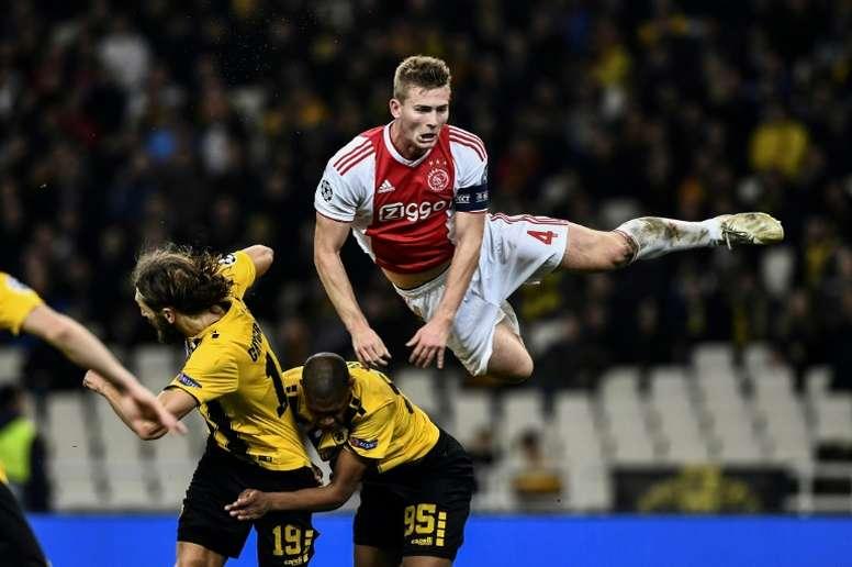 Le capitaine de l'Ajax Matthijs de Ligt. AFP