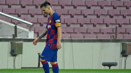 Le malaise Messi, symbole des doutes du Barça. AFP
