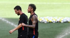 Neymar réclame de nouveau de l'argent au Barça. AFP