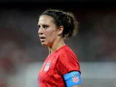 La joueuse américaine Carli Lloyd lors du match face à la Nouvelle-Zélande. AFP