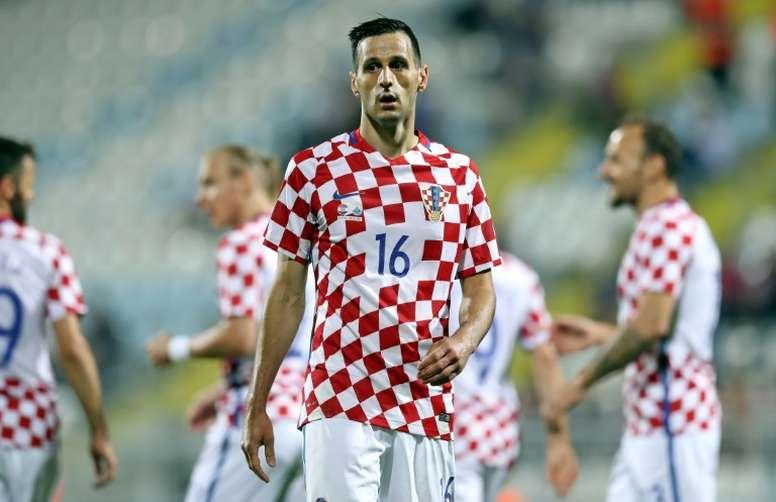 Kalinic fue expulsado de la Selección Croata. AFP