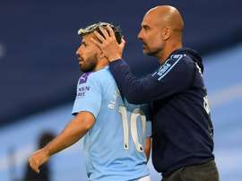 Guardiola hopes to have Sergio Aguero back for the Champions League. AFP