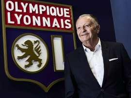 Le président de l'Olympique Lyonnais, Jean-Michel Aulas. AFP
