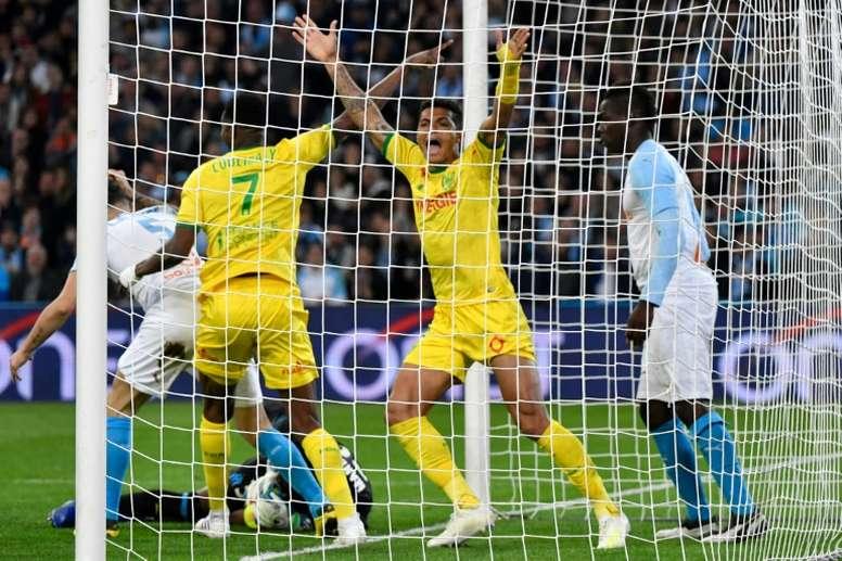 El Nantes le hizo una buena faena al Olympique. AFP