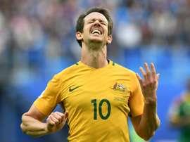 Camerún y Australia cierran el grupo con un punto cada una, respectivamente. AFP