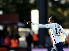Blaise Matuidi, double buteur et matchwinner pour le Paris Saint-Germain à Metz. AFP