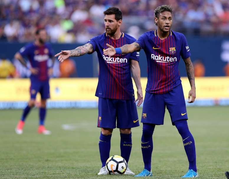 Messi wants Neymar to return to Barca and is against Griezmann arriving. AFP