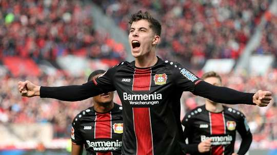Havertz is still giving people something to talk about in the Bundesliga. AFP