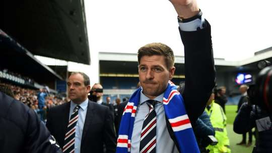 Gerrard's first Rangers SPL game is against Aberdeen. AFP
