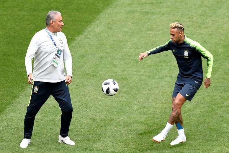 Tite s'est confié sur Neymar. AFP