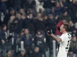 L'attaquant de la Juventus Mario Mandzukic. AFP